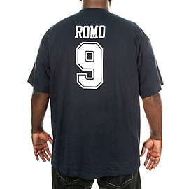 Dallas Cowboys Big and Tall Tony Romo Stripe Away T-Shirt
