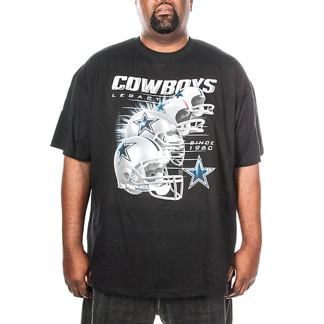 Dallas Cowboys Big and Tall Helmet History Tee