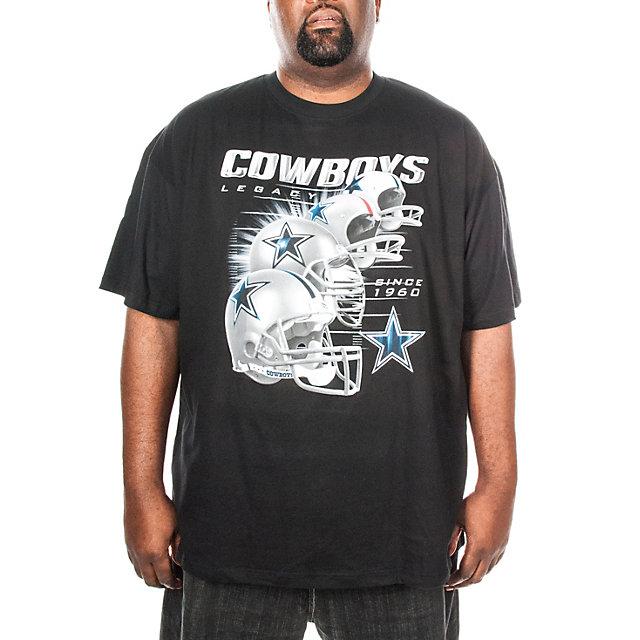 Dallas Cowboys Big and Tall Helmet History Tee