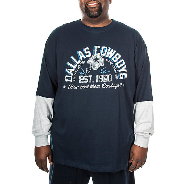 Dallas Cowboys Big and Tall Cruiser Long Sleeve Tee
