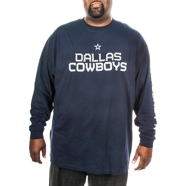 Dallas Cowboys Big and Tall Splitline Long Sleeve Tee