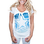 Dallas Cowboys Knockout Burnout V-Neck Tee