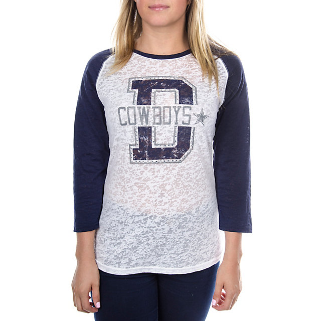 Dallas Cowboys Bling Raglan Tee