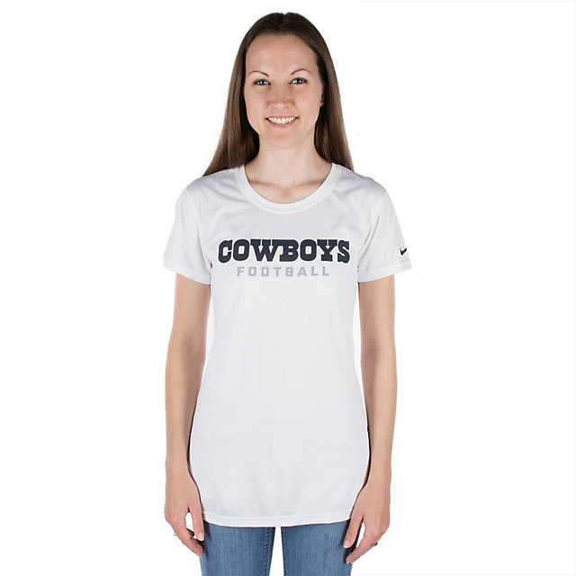Dallas Cowboys Nike Legend Womens Wordmark T-Shirt
