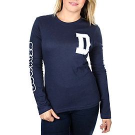 Dallas Cowboys Womens The Big D Long Sleeve Crew Tee