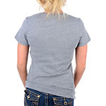 Dallas Cowboys Womens Lace Star Triblend Tee