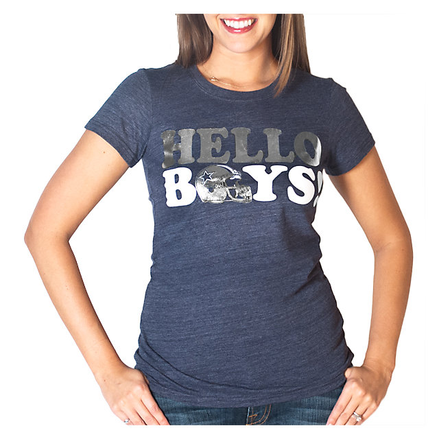 Dallas Cowboys Womens Hello Boys Triblend Tee