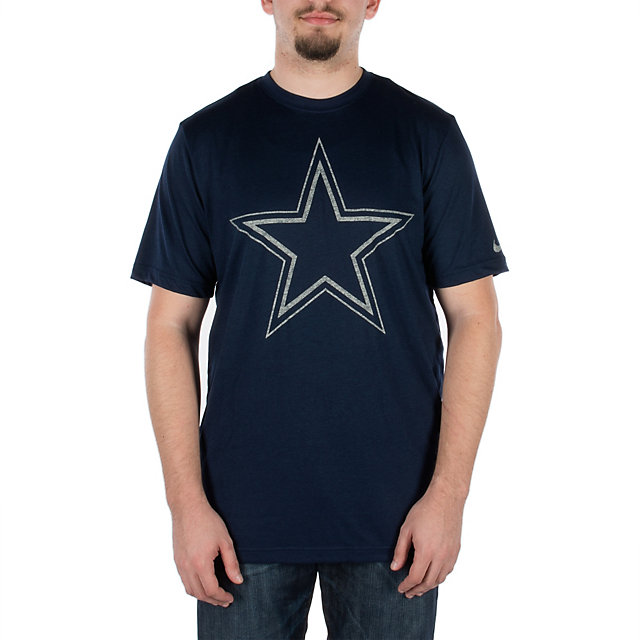 Dallas Cowboys Nike Tri-blend Heathered Logo Tee