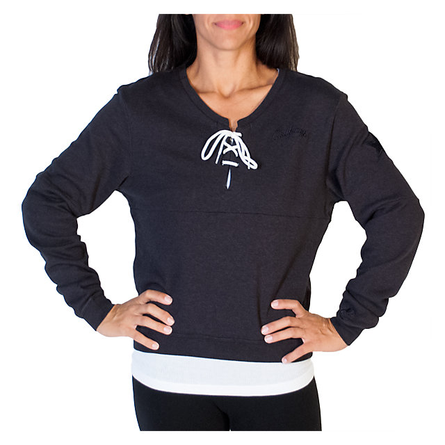 Dallas Cowboys Womens Nike Black Laced V-Neck Sweatshirt