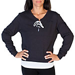 Dallas Cowboys Womens Nike Black Laced V-Neck Sweatshirt