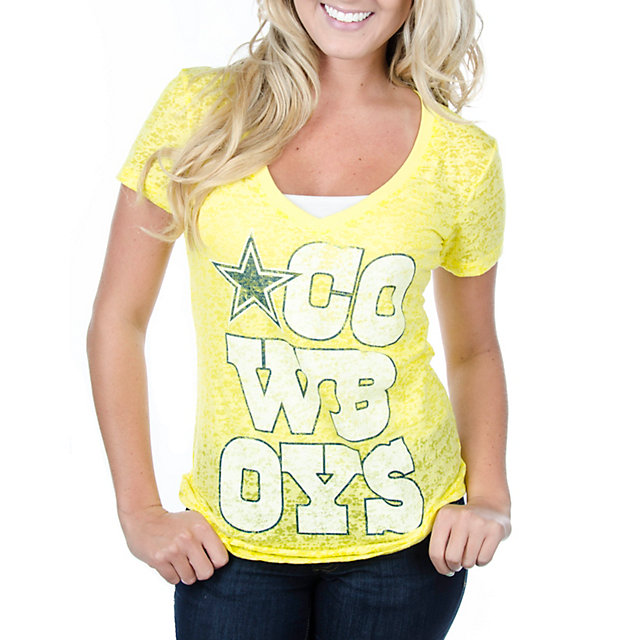 Dallas Cowboys Rock Burnout V-Neck T-Shirt