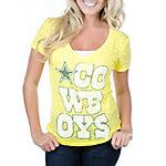 Dallas Cowboys Rock Burnout V-Neck T-Shirt