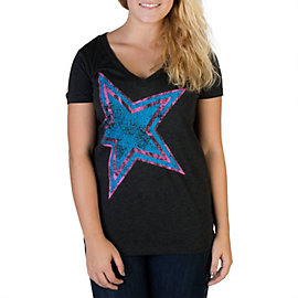Dallas Cowboys Womens Far Out V-Neck Tee
