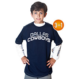 Dallas Cowboys Youth Checkdown 3-in-1 Combo T-Shirt