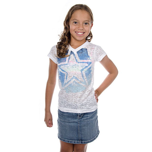 Dallas Cowboys Girls Knockout Burnout Tee