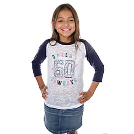 Dallas Cowboys Girls Dallas 60 Raglan