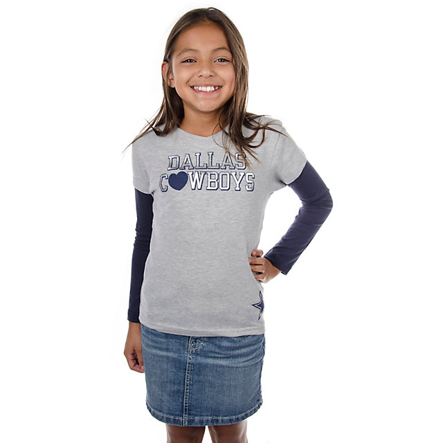 Dallas Cowboys Girls Lindsey Layered T-Shirt