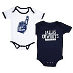 Dallas Cowboys Little Guy 2-Pack Onesie Set