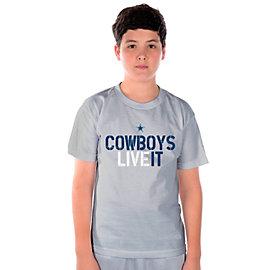 Dallas Cowboys Youth Live It Stats T-Shirt