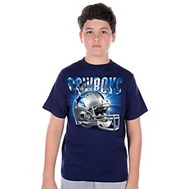 Dallas Cowboys Youth Reflections Helmet T-Shirt