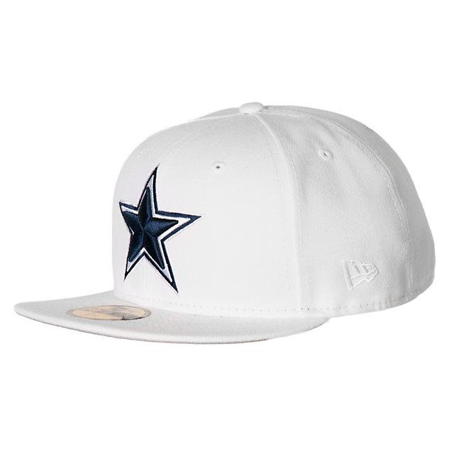 Dallas cowboys new era white cap 59fifty mens 5 mens for Dallas cowboys fishing hat
