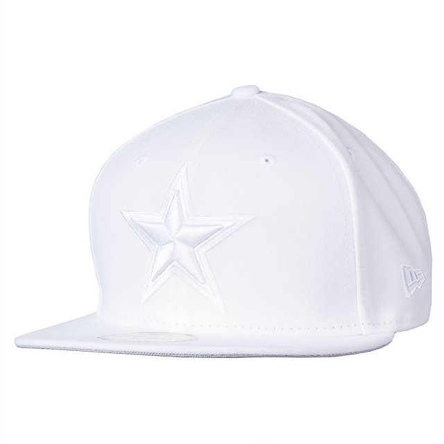 Dallas Cowboys New Era Tonal White Cap 59Fifty