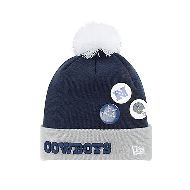 Dallas Cowboys New Era Button Up Knit Hat