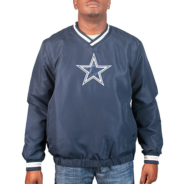 Dallas Cowboys Star Logo V-Neck Pullover Jacket