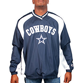 Dallas Cowboys Navy Color Block V-Neck Pullover Jacket