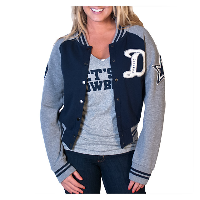 Dallas Cowboys Womens Grenadiers Letter Jacket