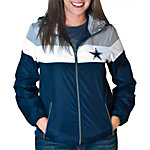 Dallas Cowboys Womens Striped Hood Jacket