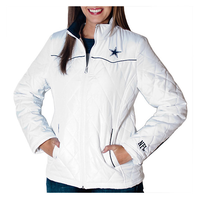 Dallas Cowboys Womens Diamond Quilted Jacket