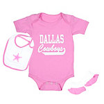 Dallas Cowboys Love Bug Bib & Bootie Set