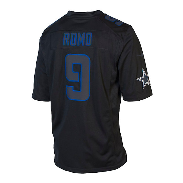 Dallas Cowboys Romo #9 Nike Limited Black Jersey