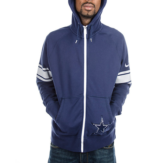 Dallas Cowboys Nike Player Club Full Zip Hoody