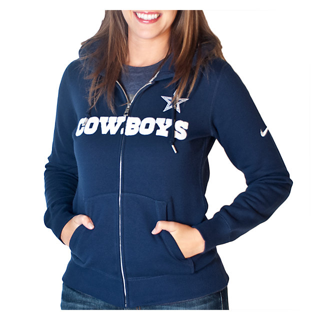Dallas Cowboys Womens Nike Tailgater Fleece Full Zip Hoody