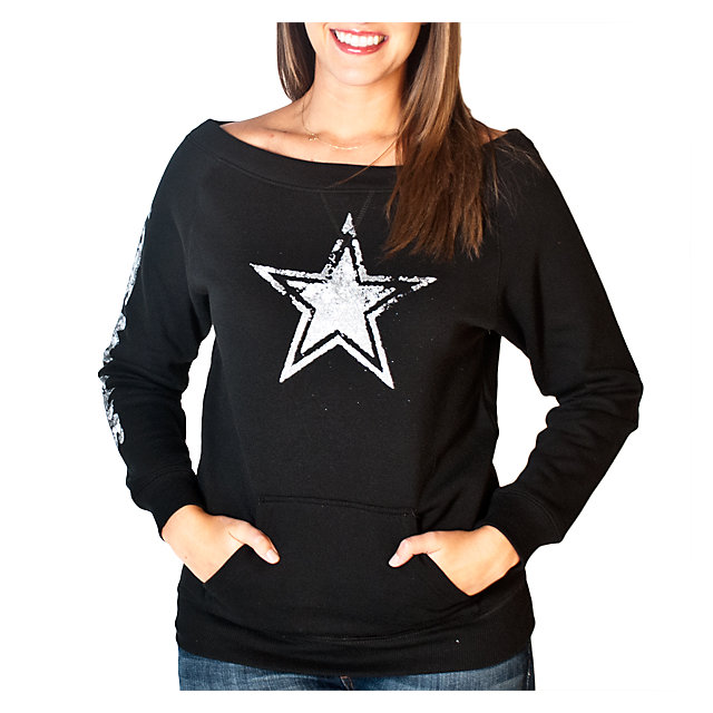 Dallas Cowboys Womens Stardust Crew Fleece