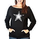 Dallas Cowboys Womens Stardust Crew Fleece