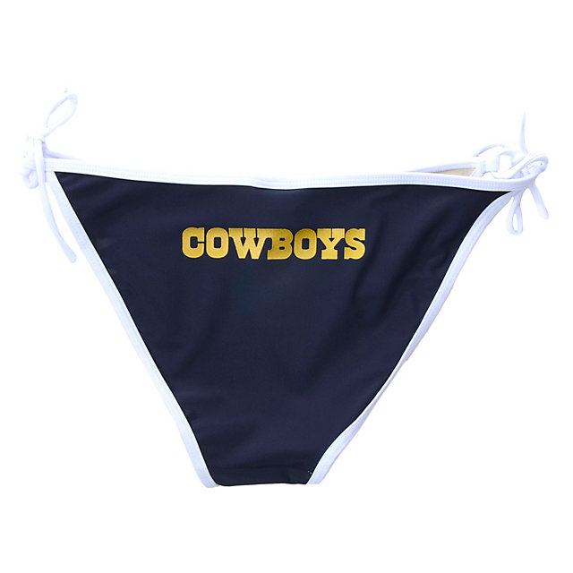 Dallas Cowboys Stripe String Bikini Swimsuit Bottom