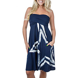 Dallas Cowboys Painted Star Tube Dress