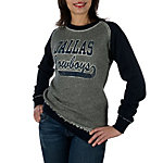 Dallas Cowboys Womens Ramshackle Crew Sweatshirt
