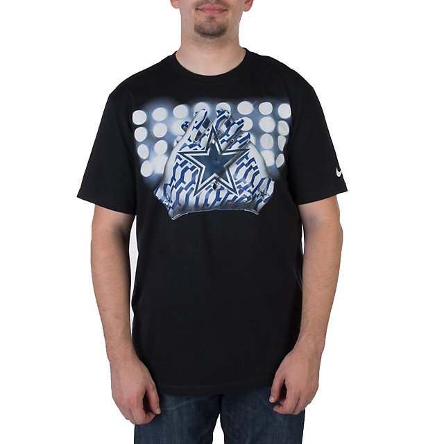 Dallas Cowboys Nike Glove Lock Up Tee - Black
