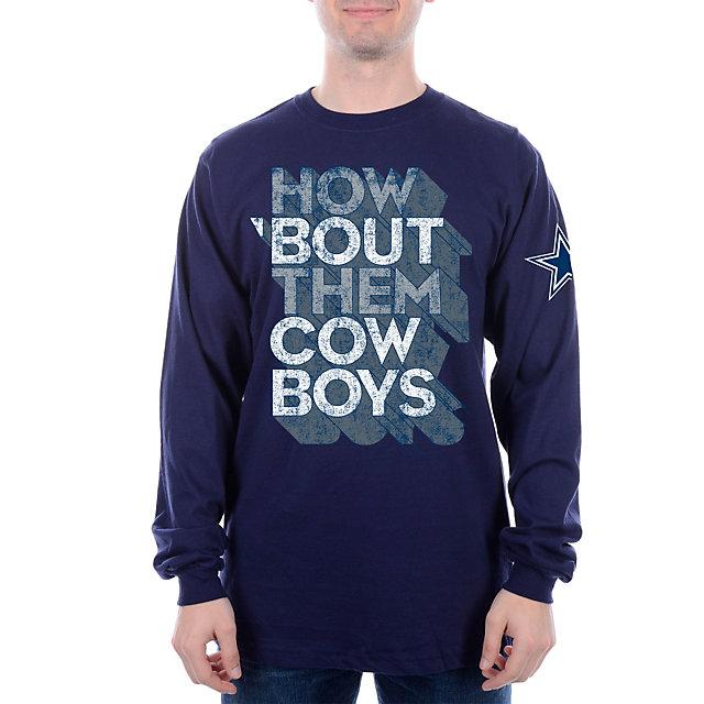 Dallas Cowboys How Bout 3D Long Sleeve Tee