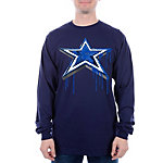 Dallas Cowboys Long Sleeve Paint Star Tee