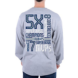 Dallas Cowboys Just The Stats Long Sleeve Tee