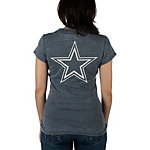 Dallas Cowboys Pansy Burnout Tee