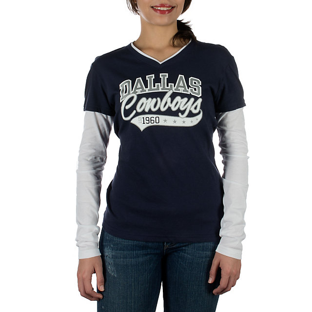 Dallas Cowboys Hosta Long Sleeve Layered Tee
