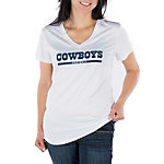 Dallas Cowboys Nike Womens Legend Wordmark 2 Tee