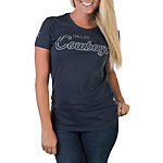 Dallas Cowboys Nike Womens Triblend Script Tee