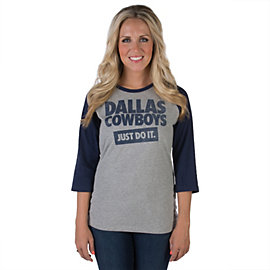 Dallas Cowboys Nike Womens Stamp Raglan Tee
